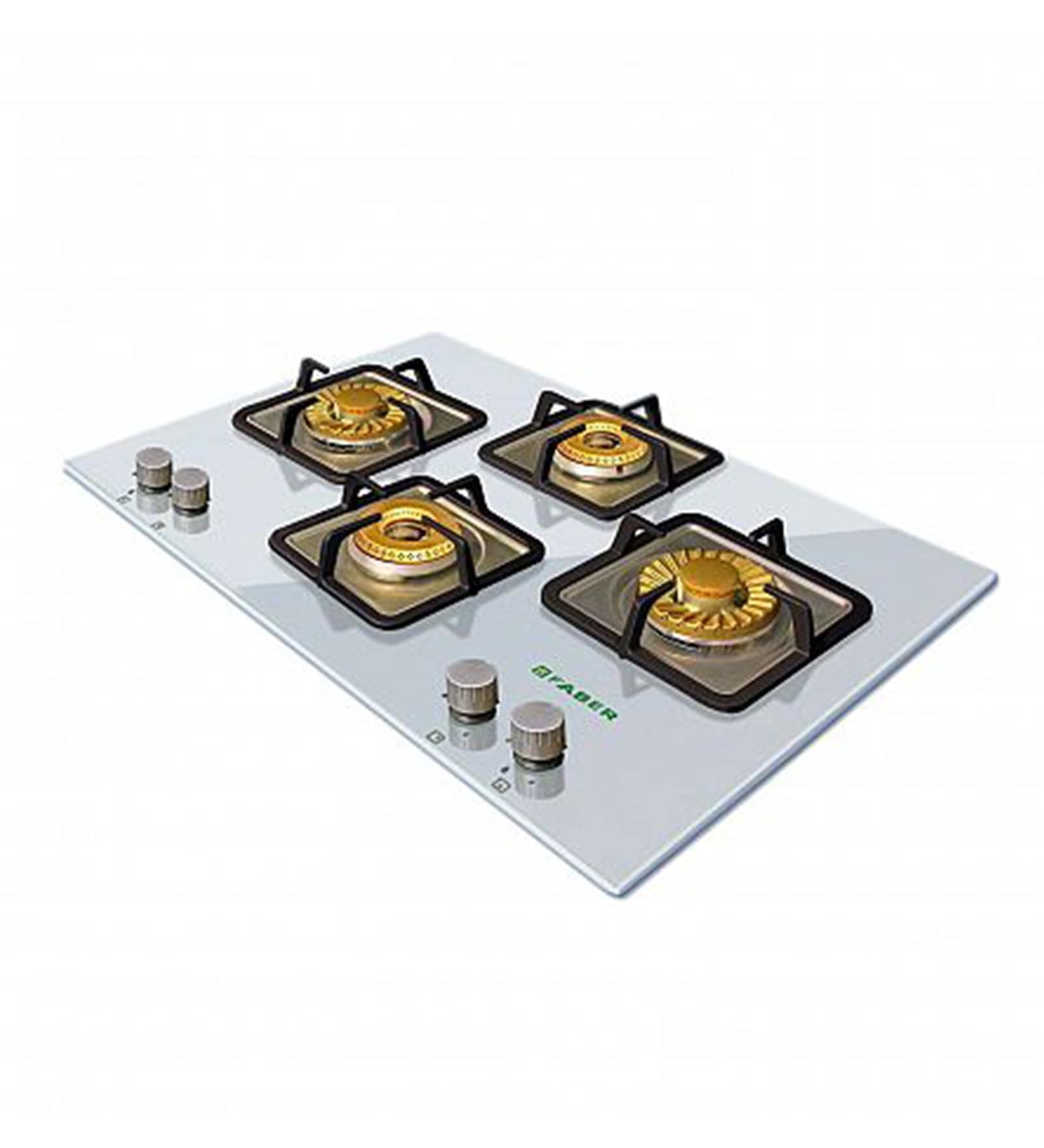 Faber Brass and Glass 4-burner Glasstop Hob (Model: HGG 754CRS BR CI)