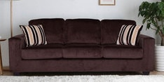 Fabio Three Seater Sofa in Chocolate Colour
