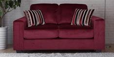 Fabio Two Seater Sofa in Burgundy Colour