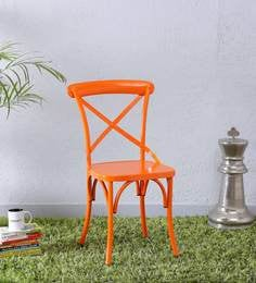 Fabian Metal Chair In Orange Color