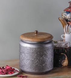 Fabuliv Paulsen Vintage Metallic Grey Storage Box
