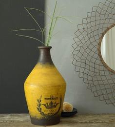 Flower Vases Buy Wooden Amp Metal Flower Glass Vase Online