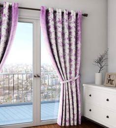 Faux Silk Semi Blackout 7.5 Feet Door Curtain - 1720077