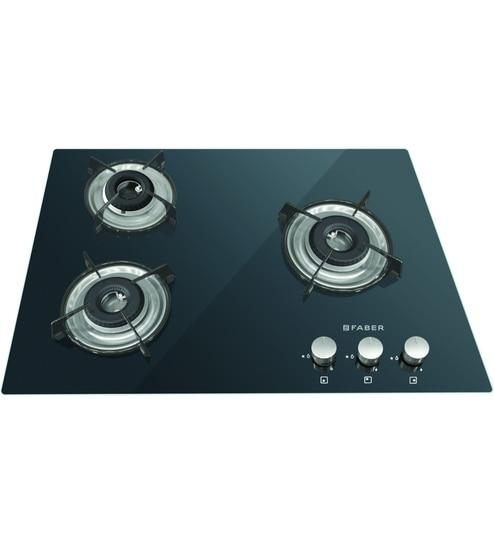 FABER 3 Burner Manual Ignition Built In Hob Cooktop Hybrid  (HCT 653 CRR LBK EI NA)