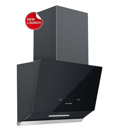 Faber Black Filterless &1200 M /Hr 60 CM Touch Chimney(Model: Vertex Fl Tc  Bk 60)