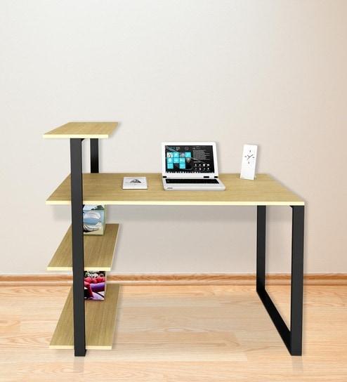 Fabio Study Table In Urban Teak Finish By UNiCOS Part 53