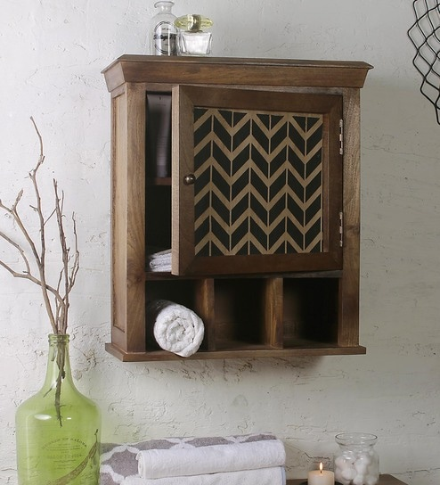 Enjoyable Mango Wood Brown 5 Compartment Bathroom Cabinet L 26 W 10 H 26 Inches By Fabuliv Bralicious Painted Fabric Chair Ideas Braliciousco
