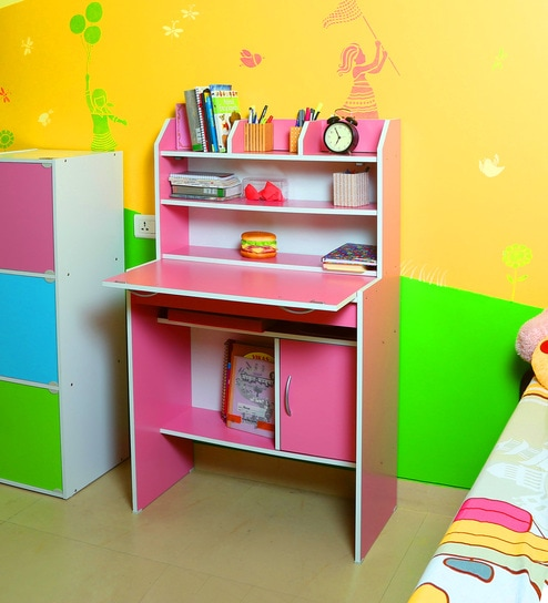 Buy Fayne Study Unit In Pink Colour By Fonzel Online Kids Study