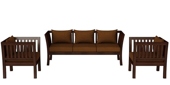 Falcon Teak Wood Sofa Set 3 1 1 In Mahogany Finish By Casateak