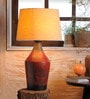 Beige Jute Adolfo Vintage Table Lamp by Fabuliv