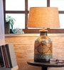 Beige Jute Amias Table Lamp by Fabuliv