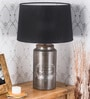 Black Cotton Bale Table Lamp by Fabuliv