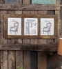 Fabuliv Brown Mango Wood 32.5 x 1 x 14.5 Inch Window Photo Frame