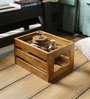 Fabuliv Brown Mango Wood Crate Basket