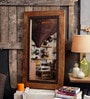 Brown Mango Wood Slenna Wall Mounted Mirror by Fabuliv