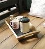Fabuliv Chalk Board Mango Wood Tea Tray
