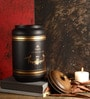 Fabuliv Country Kitchen Black and Gold Wood and Metal 2000ML Cylindrical Canister