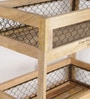 Fabuliv Mango Wood & Iron Brown 2 Tier Rack
