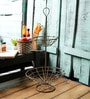 Fabuliv Persian Vintage Metal 2 Tier Grocery Stand