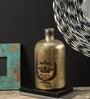 Fabuliv Silver Brass & Glass 5.3 X 10 Inch Vase