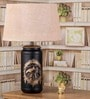 Stupire bird Beige Cotton Table Lamp by Fabuliv
