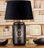 Stupire Black Cotton Table Lamp by Fabuliv
