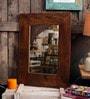 Walnut Mango Wood Nebulus Wall Mounted Mirror by Fabuliv