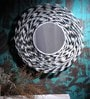 White Glass & Iron Bohemian Mirror by Fabuliv