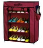 Fancy 4 Layer Portable Multipurpose Waterproof Fabric Shoe Rack in Maroon Colour by YUTIRITI
