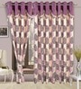 Precious Purple Polyester Eyelet Window Curtain- Set of 2 by Cortina