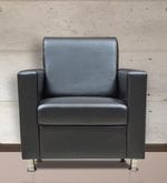 Felix One Seater Sofa in Black Leatherette