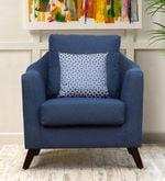 Felix One Seater Sofa in Blue Colour