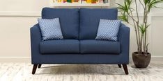 Felix Two Seater Sofa in Blue Colour
