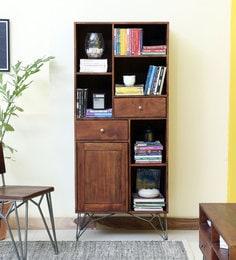 Ferme Solid Wood Book Shelf cum Display Unit in Premium Acacia Finish ... 98f8a5b4be7a