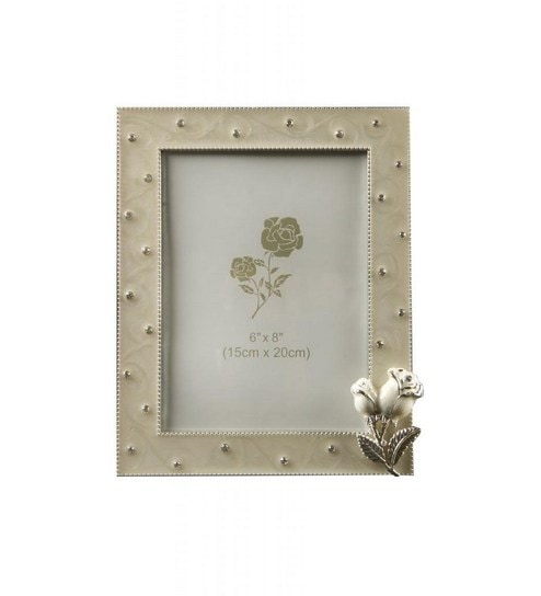Fennel Square Off White Small Photo Frame With Flower by Fennel ...