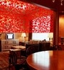 Red Acrylic Floral Galore Room Divider by Planet Decor