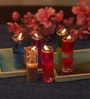 Multicolour Glass Fancy Pencil Candle - Set of 12 by Festive Collection