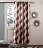 Coffee Polyester Curtains - Set of 2 by Fflaunt