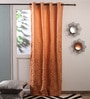 Oranges Jacquard Curtains - Set Of 2 by Fflaunt