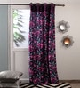Purple Polyester Curtains - Set of 2 by Fflaunt