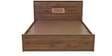 Fischer Queen Bed with Storage in Columbia Walnut Finish by Mintwud