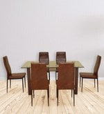 Fiesta Six Seater Dining Set in Brown Colour