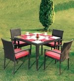 Fine Living Four Seater Compact Outdoor Dining Set
