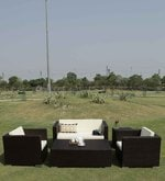 Five Seater Outdoor Sofa Set with Center & Side Table