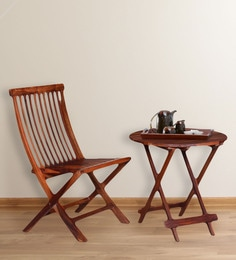 Fife Chair And Table Set In Provincial Teak Finish