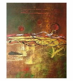 Canvas 24 X 32 Inch Abstract Unframed Handpainted Art Painting