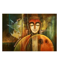 Canvas 35 X 24 Inch Contemplation Unframed Handpainted Art Painting - 1608445