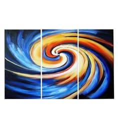 Canvas 36 X 32 Inch Whirlpool Unframed Handpainted Art Paintings