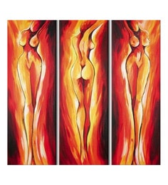 Canvas 36 X 36 Inch Society Unframed Handpainted Art Paintings