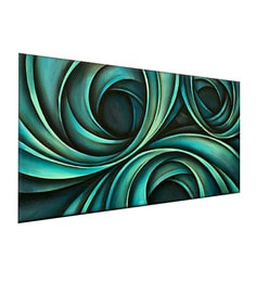 Canvas 48 X 24 Inch Wavy Abstract Unframed Handpainted Art Painting